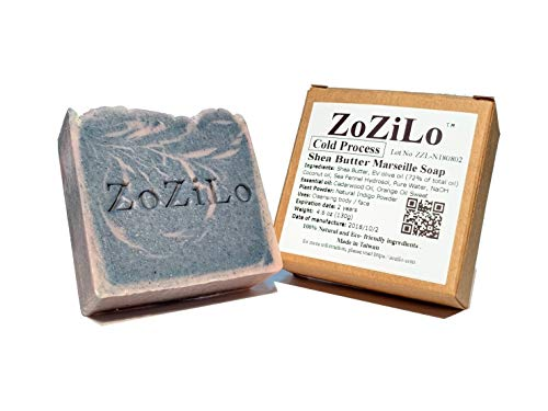 ZoZiLo Soap - Ocean Blue -Shea Butter Soap - Olive Oil Soap -Organic Essential Oil Soap - Palm Oil Free - Handmade Soap-4.6 ()