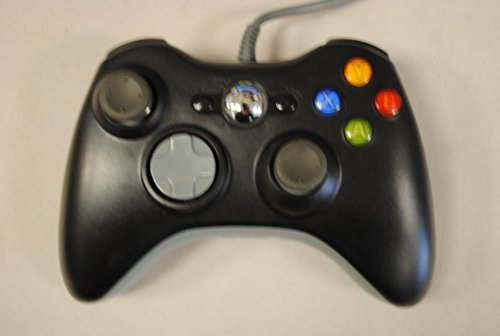 Findway Wired USB Controller for PC & Xbox 360 (Black)