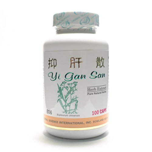 Liver Soother Dietary Supplement 500mg 100 capsules (Yi Gan San) B06 100% Natural Herbs ()