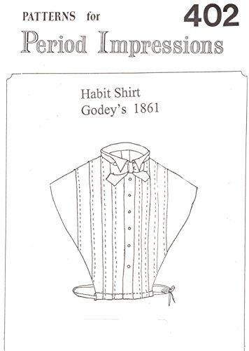 [1800s Habit Shirt Pattern] (Woman Gunslinger Costume)