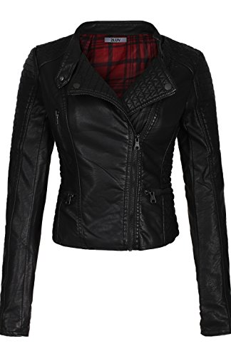 Ladies Leather Bike Jacket - 3