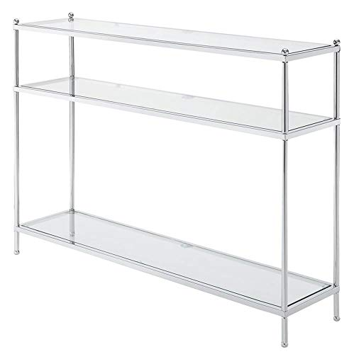 Glass Console (Convenience Concepts Royal Crest Collection Console Table, Chrome/Glass)