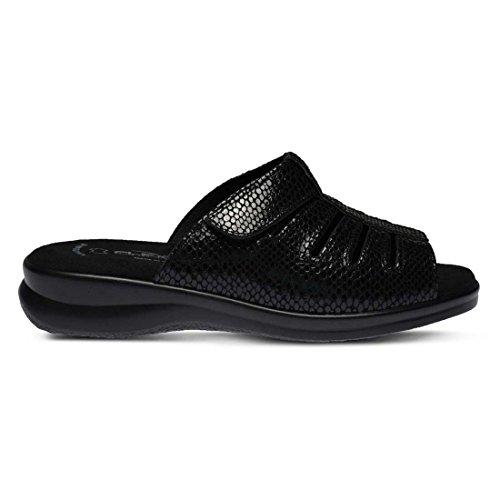 Python Black Flexus Sandals Vamp Women's 0Yn7P7vWU