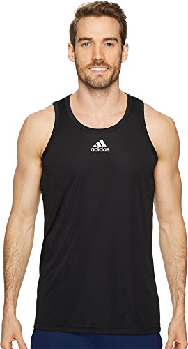 Camiseta Sin Mangas Adidas Hombres Heathered Black / Grey Two