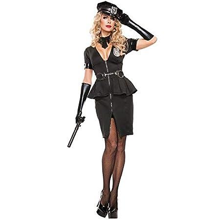 DXYQT Disfraz de Cosplay para Adultos, Mujer policía, Traje de ...