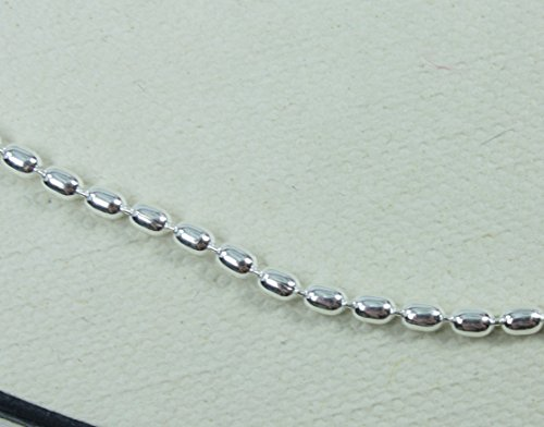 LINKS OF LONDON Sterling Silver Essentials Large Oval Ball Necklace 40cm/16 LOF2iramT