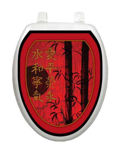 Red Delight TT-1030-O Elongated Theme Cover Bathroom by Toilet Tattoo