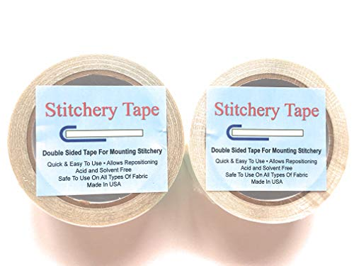 (Yarn Tree Stitchery Tape for Framing, 1.5 Inch x 60 Feet per Roll, 2-Pack)