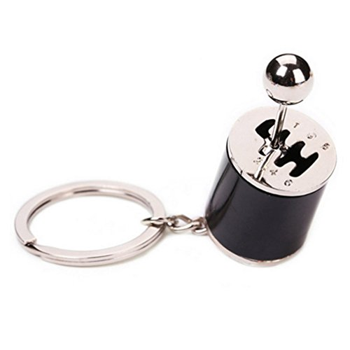 Generic Creative Auto Part Model Six Speed Manual Transmission Shift Lever Keychain Keyring Key Chain Ring Keyrings Black