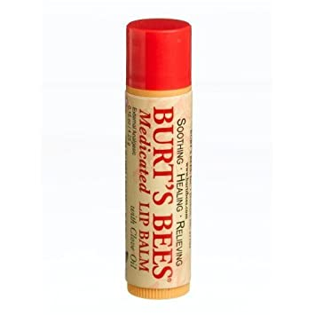 Burt s Bees Burt s Lip Care Medicated Lip Balm with Clove Oil 0.15 oz. tube Lip Balms Pack of 6