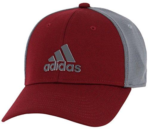 adidas Men's Franchise Structured Stretch Fit Cap, collegiate burgundy/Onix/black, ()