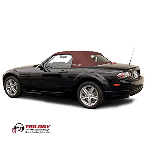 Mazda Miata Convertible Top, 2006-2015 Trilogy Vinyl, Heated Glass Window, Bordeaux