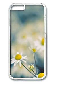 Chamomile flowers Custom Case For HTC One M7 Cover Polycarbonate Transparent
