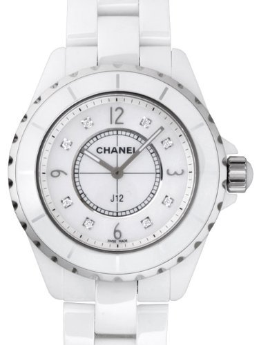 Chanel J12 Mother of Pearl Diamond Dial White Ceramic Unisex Watch H3214 (Chanel J12 White Ceramic Watch)
