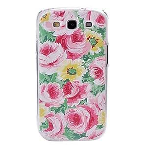 Small Fresh Peony Flowers Plastic Case for Samsung Galaxy S3 I9300