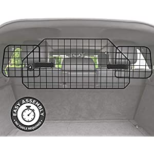 Pawple Dog Barrier for SUV's, Cars & Vehicles, Heavy-Duty - Adjustable Pet Barrier, Universal Fit 13