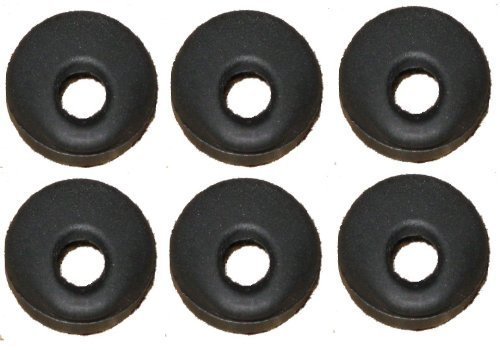 UPC 788581569382, 6 Universal Black Rubber Eargel Compatable With: Jawbone,, / Motorola Hk100 Lg Samsung Hm1000 Hm1100 1200, 1300, 1600, 1700 Mx100 M25, M155