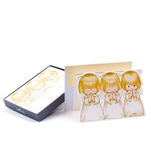 Hallmark Religious Christmas Boxed Cards, Three Angels (16 Cards and 17 ()