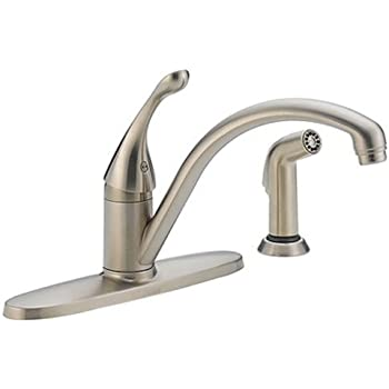 Delta 440 SS DST Collins Single Handle Kitchen Faucet with