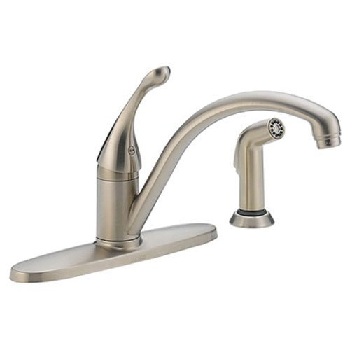 kitchen faucet pewter - 9