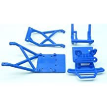 Traxxas Stampede 2wd XL-5 VXL CONVERSION Kit Upgrade BLUE BUMPER & SKID PLATES