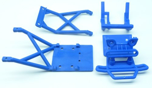 Traxxas Stampede 2wd XL-5 VXL CONVERSION Kit Upgrade BLUE BUMPER & SKID PLATES