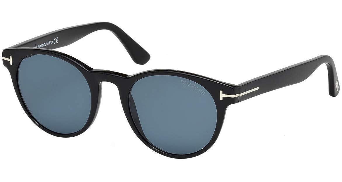 e1b3c68c4c792 Tom Ford FT0522 01V Black FT0522 Round Sunglasses Polarised Lens Category 3  Siz at Amazon Men s Clothing store