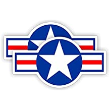 United States AIR FORCE Symbol Hard Hat Decal | Motorcycle Helmet Sticker | Military USA Navy Patriotic Army