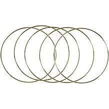 Bulk Buy: Darice DIY Crafts Metal Ring Gold 10 inches (6-Pack) 17158