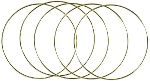 Bulk Buy: Darice DIY Crafts Metal Ring Gold 7 inches (6-Pack) 1720