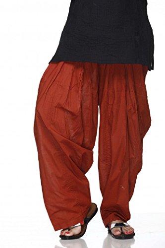 PlainPATIALASALWAR Pants-100% Cotton-IN MANY COLOURS- Kameez Kurti Tunic (Rust Salwar)