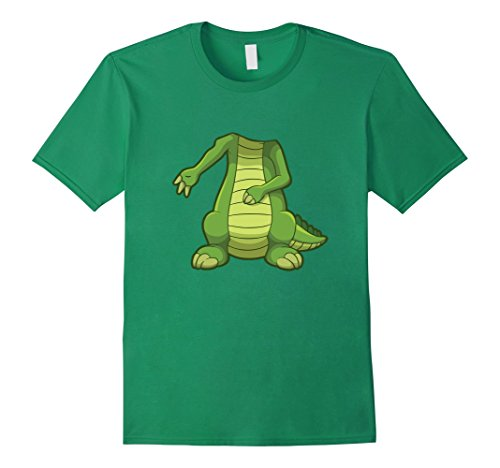 Mens Easy Crocodile Halloween Costume Funny Cute Gift T-shirt Large Kelly Green - Mens Crocodile Costume