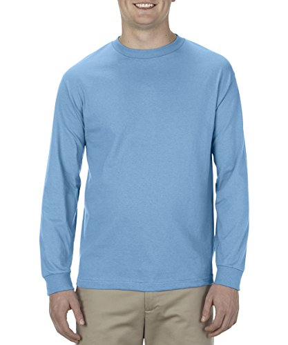 (Alstyle Apparel AAA Men's Classic Cotton Long Sleeve T-shirt, Carolina Blue, Medium)