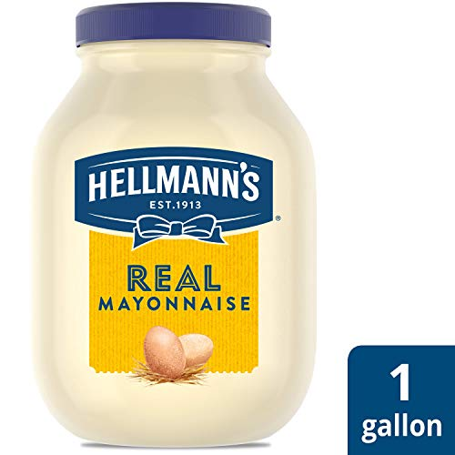 Hellmann's Real Mayonnaise Jar Made with 100% Cage Free Eggs, Gluten Free, 1 gallon (Best Foods Real Mayonnaise Recipe)