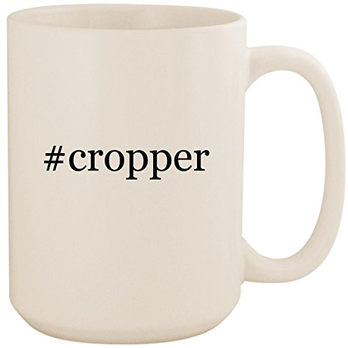 - #cropper - White Hashtag 15oz Ceramic Coffee Mug Cup