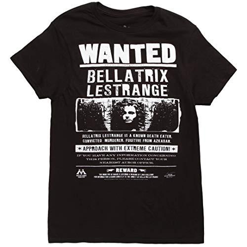 Harry Potter Wanted Bellatrix Lestrange Adult T-Shirt - Black (Medium)