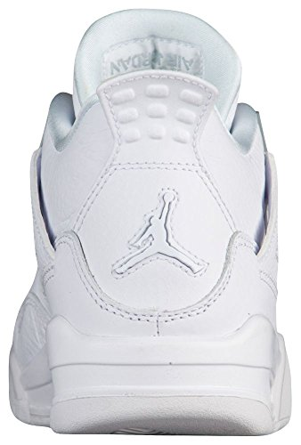 Nike Air Jordan Mens Rétro Chaussure De Basket-ball Blanc, Métal Argent