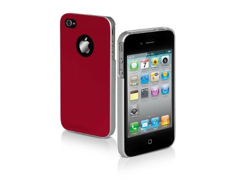 SBS Rigid case Satiny iPhone 4S/4 garnet
