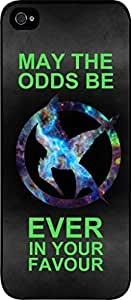 May the Odds Be Ever in Your Favor-Neon- Hard Black Plastic Snap - On Case-Apple Iphone 4 - 4s - Great Quality!