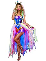 Dreamgirl Women's Colorful Unicorn Fantasy Costume