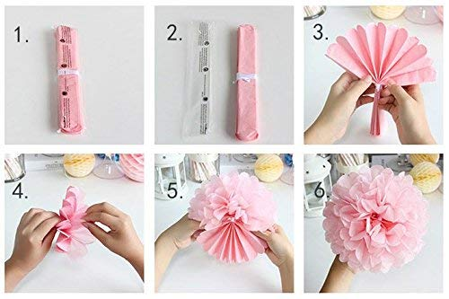 Baby Shower Decorations for Girl - 80PC Bundle Includes - Garland Bunting Banner Bonus+30PC Photo Booth Props Bonus+8PC Balloons Plus+E-Book Prediction Card and Decorations Set with in Ziplock Bag by Golden Babyy (Image #8)