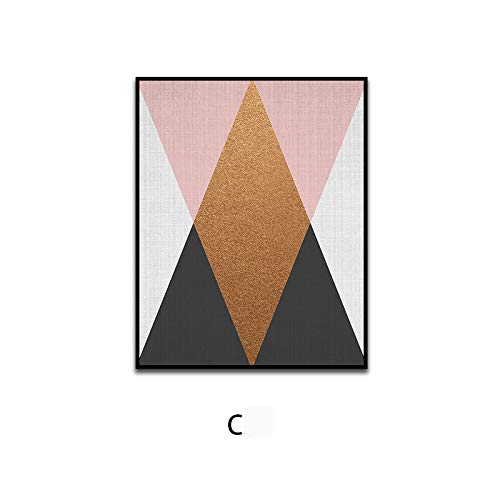(DEED Nordic geometric abstract paintings, living room paintings, bedroom bedside matrix pattern wall decoration painting,F,4060)