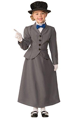 [Forum Novelties Kids English Nanny Costume, Gray, Medium] (Child Mary Costumes)