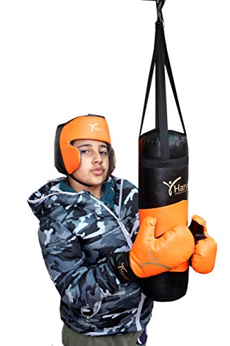 HARVEY SPORTS & FITNESS Kids Boxing Kit with Punching Bag Gloves & Head Guard Small Upto 8 Years (18 Inches) Price & Reviews