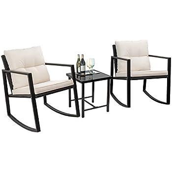Amazon.com: Flamaker - Juego de muebles de jardín de 3 ...