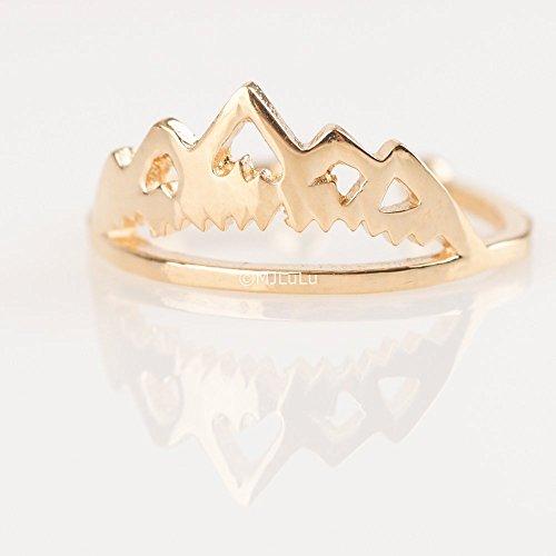 Mountain Ring, 14k Gold Fill Ring