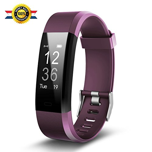2018 NEWFitness Watch,Fitness Tracker,Luluking YG3 Plus Activity Tracker With Heart Rate Monitor,Step Counter,GPS Tracker,Waterproof Smart Wristband for Android and Ios (purple)