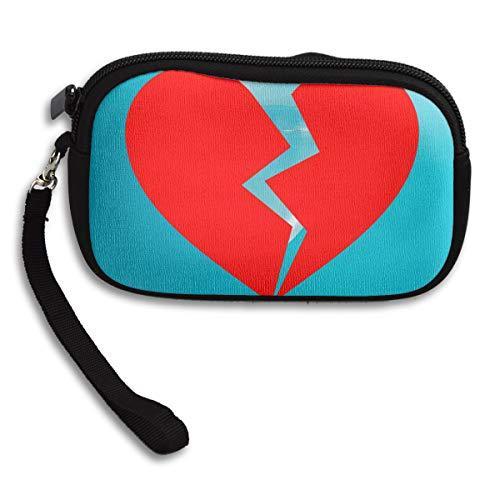 Broken Portable Bag Deluxe Receiving Printing Heart Purse Small rwfxZrS1