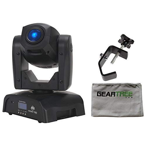 ADJ Pocket Pro Mini Moving Head with 25W LED w/Cleaning Cloth and Clamp