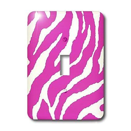 3dRose lsp/_44185/_1 Bright Pink Zebra Print Toggle Switch